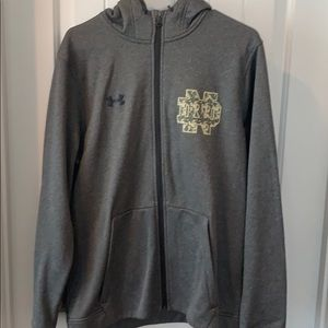 NWOT University of Notre Dame Military ZIP Up
